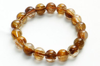 Bronze Rutilated Quartz Bead Stretchy Bracelet