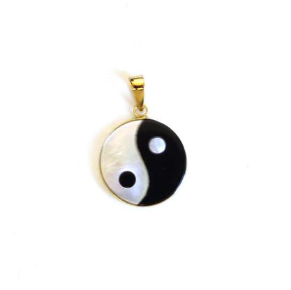 Gold yin yang pendant 14k gold yin yang pendant aloadofball Choice Image
