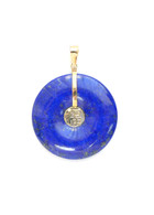 "14K Gold Bail Lapis Lazuli ""Good Fortune"" Pendant"
