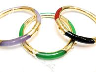 14K Gold Clasp Jade Bracelet