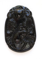 Black Jade Rat Pendant