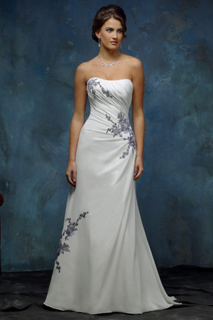 Chiffon A-line Wedding Dress