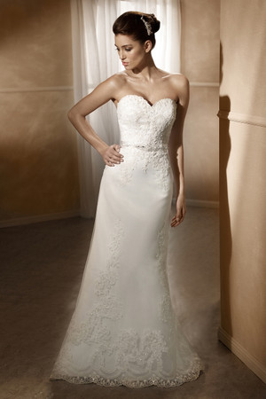 Satin Slim A-line Wedding Dress