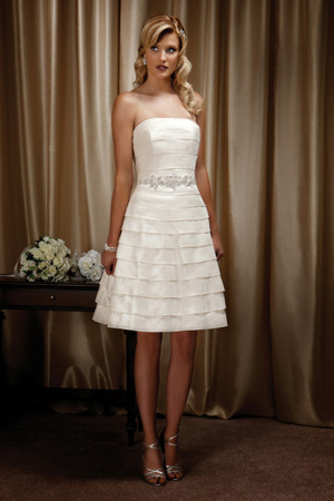 Taffeta A-line wedding dress