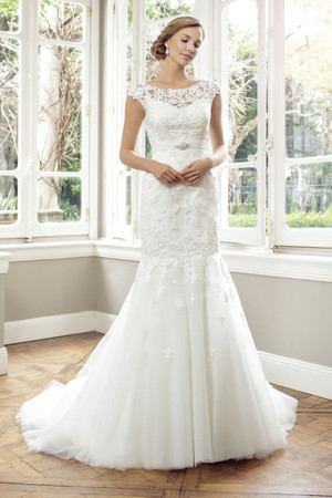 Tulle Slim A-line Wedding Dress - Amalie