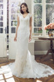 Tulle Slim A-line Wedding Dress - Albany
