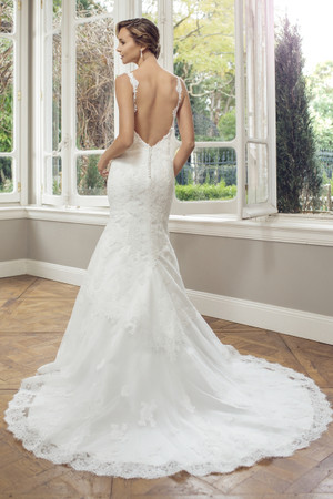 Tulle Slim A-line Wedding Dress - Alana