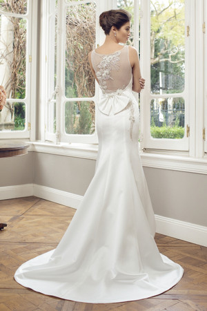 Satin Slim A-line Wedding Dress - Ainsley