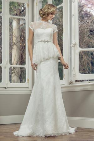 Lace Slim A-line Wedding Dress - Ava