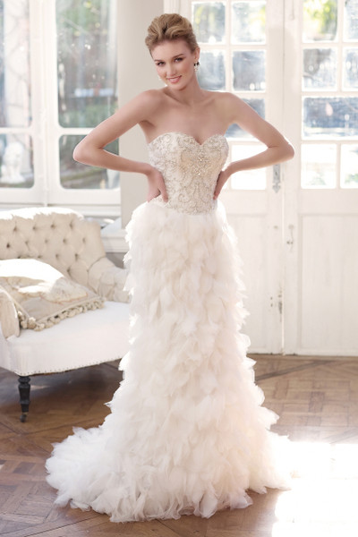 Tulle Slim A-line Wedding Dress