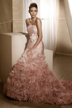 Organza A line wedding dress