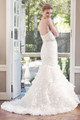 Organza trumpet wedding dress