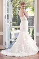 Organza trumpet wedding dress