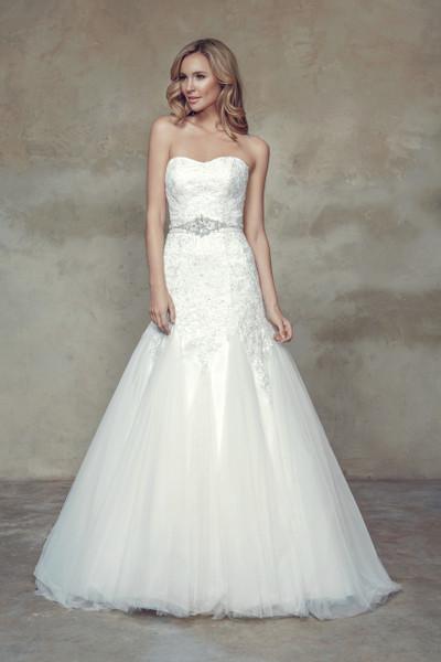 Bridal Tulle A-line Wedding Dress - Belinda
