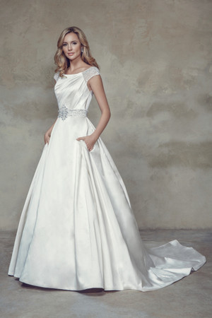 Satin Ball Gown Wedding Dress - Blakely