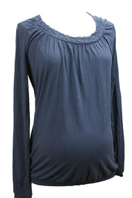 Navy Noppies Maternity Banded Blouse (Gently Used - Size Large)