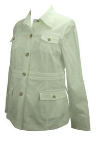 *New* White Liz Lange Maternity Long Sleeve Jacket (Size 4)