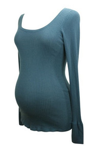 Navy Cadeau Maternity Long Sleeve Sweater Top (Gently Used - Size Large)