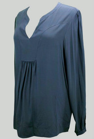 Navy Blue Cadeau Maternity Long Sleeve Blouse (Like New - Size Large)