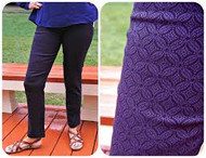 Navy Purple Margaret M Maternity Edition Slimming Ankle Pants (Like New- Singe Medium)