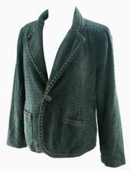 *New* Black Pleated Motherhood Maternity Blazer-Jacket (Size Large)