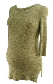 *New* A Pea in a Pod Maternity 3/4 Sleeve Scoop Neck High-low Hem Maternity Sweater (Size X-Small)