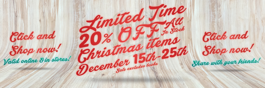 Zieglers Christmas Sale 20% off!