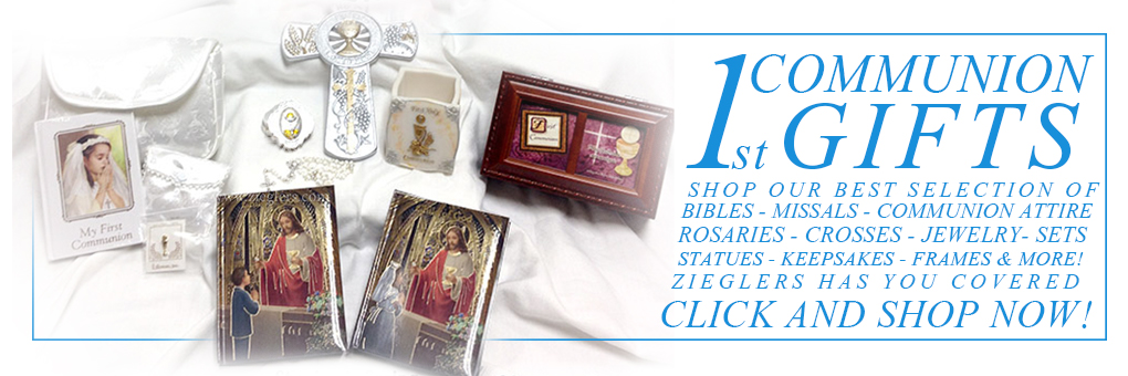 Zieglers first communion gifts banner shop now