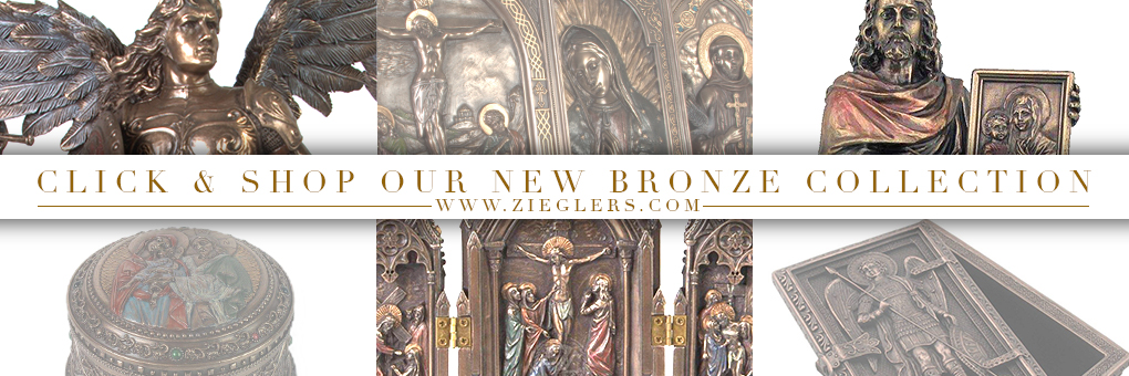 Shopw our new line of bronze religious statuary from the archangels to the blessed virgin mary to the crucified Jesus Christ! Shop NOW!