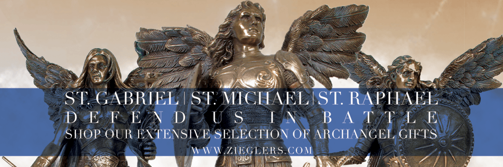 St Michael and the Archangel Raphael and Gabriel Gifts chaplets rosaries statues and more to celebrate the feast day