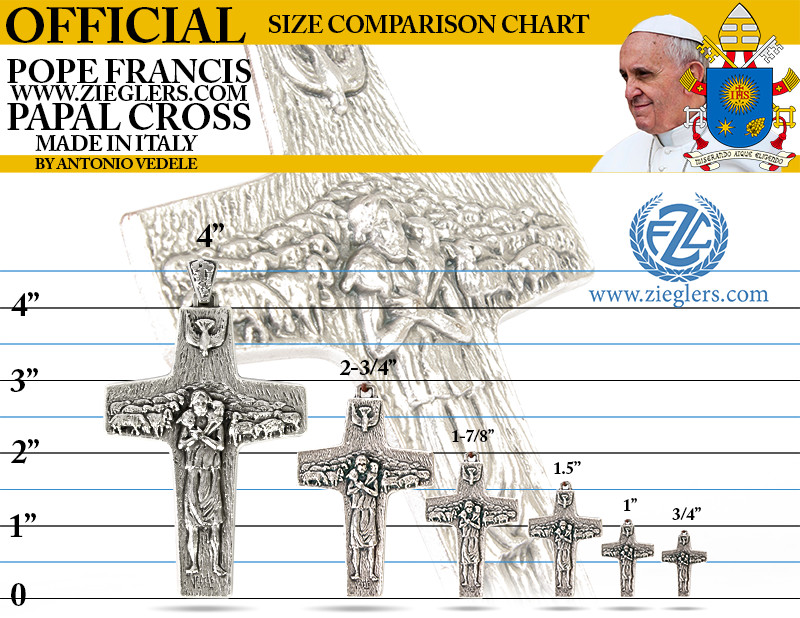 Shop Pope Francis gifts and view the Original Pope Francis Papal Pectoral Cross replica