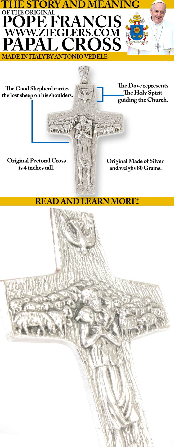shop Other Pope Francis Gifts and view The original Pope Francis Papal Cross replicas!