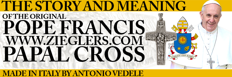 The Story and Meaning Of The original Pope Francis Papal Pectoral Cross by Antonio Vedele