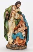 Holy Family Nativity Figurine with Unique Rendering of Christ made of Resin stands 12 inches tall RO34995Q