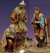 3 Kings Nativity from Joseph's Studio made of Resin standing from 17 to 26 and 1 half inches tall RO38010