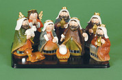 9 Piece | Children's Nativity | Includes Base | 3-1/2""