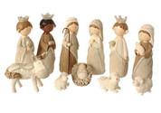 Faux Knit Nativity Set