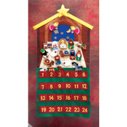Felt Advent Calendar Twenty Four Movable Pieces Go From Pockets to learning area  twenty nine inches Tall DICHNATF1