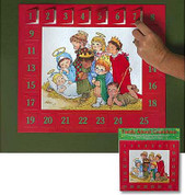 Family Advent Countdown Calendar With Card Stock Doors And Scripture 13 inches by 11 inches AB50151