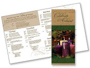 Celebrate Advent Pamphlet Describes The Traditions And Origin of Wreath And Suggests Scripture AB55056T