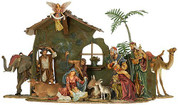 "16 Piece Traditional Nativity Set | da Vinci Inspired | 2"" - 25"" 