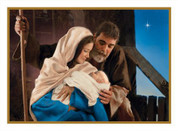 Holy Family Mass intention with Card Christmas Message measures 4 and 1 half by 6 and 1 eighth inches comes in box of 50 BCCH283