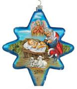 Jesus & Santa Christmas Star Shaped Glass Hand-Painted 5 inches GDB755032