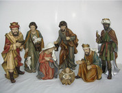 7 Piece Traditional Nativity Set Includes Infant Jesu Mary Joseph 1 Shepherd and 3 Wise Men with Flowing Robes and Soft Color Tallest Piece Measures 14 inches STR85513001