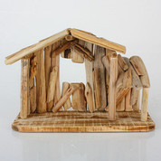 Nativity Stable made of Driftwood with Window stands 15 and 1 half inches tall STR85511007