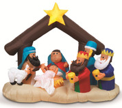 Outdoor Inflatable Nativity Electric Fan Lighted stand 63 inches in height GER2097630