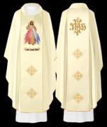 Divine Mercy Design Beige Chasuble