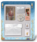 Child of God Missal first communion set with missal rosary bookmark scapular blessed sacrament pin satin purse and pouch for a girl HI5370