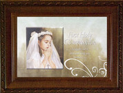Lord Bless You First Communion Music Box girl Choice Of Melody 6 by 8 by 2 and 3 quarter inches CGCMBWG
