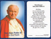 Pope Holy Cards